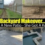 For People Who Want A Patio Makeover – But Can't Get Started… He Got A Patio – She Got A Koi Pond!