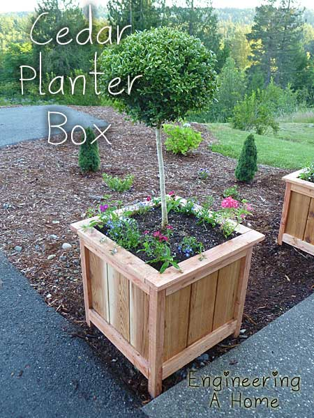 how to make beautiful large cedar planter boxes on wheels sydney box brisbane perth
