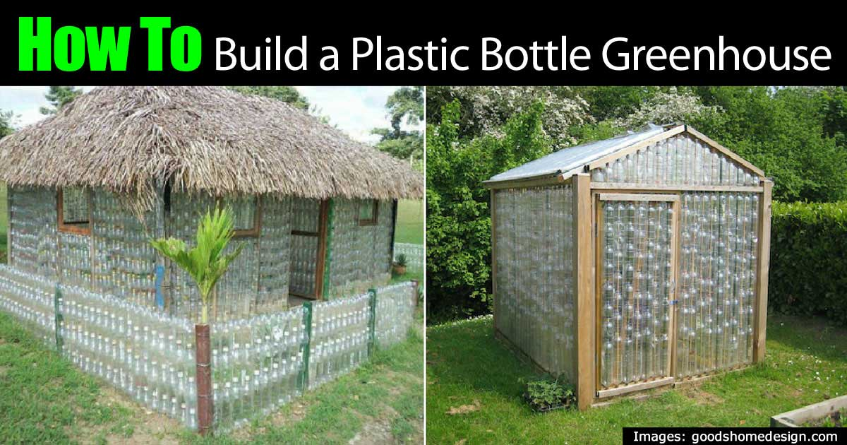 is building a plastic bottle greenhouse for real