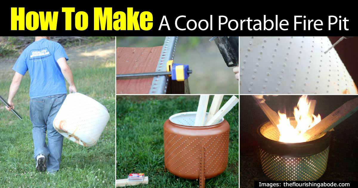 How to make a cool portable fire pit on the cheap diy for How to build a portable fire pit