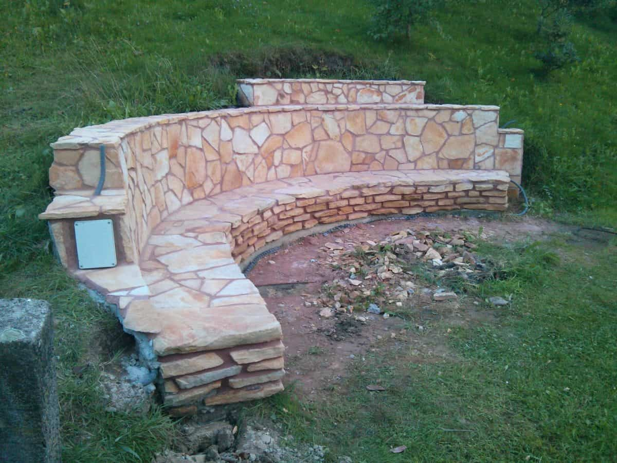 They Built A Fireplace Into Their Sloping Hillside The