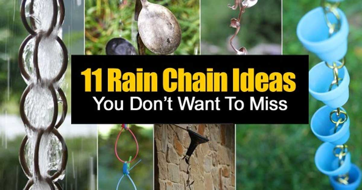 How To Make A Beautiful Rain Chain