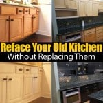 Update & Reface Your Old Kitchen Cabinets Without Replacing Them