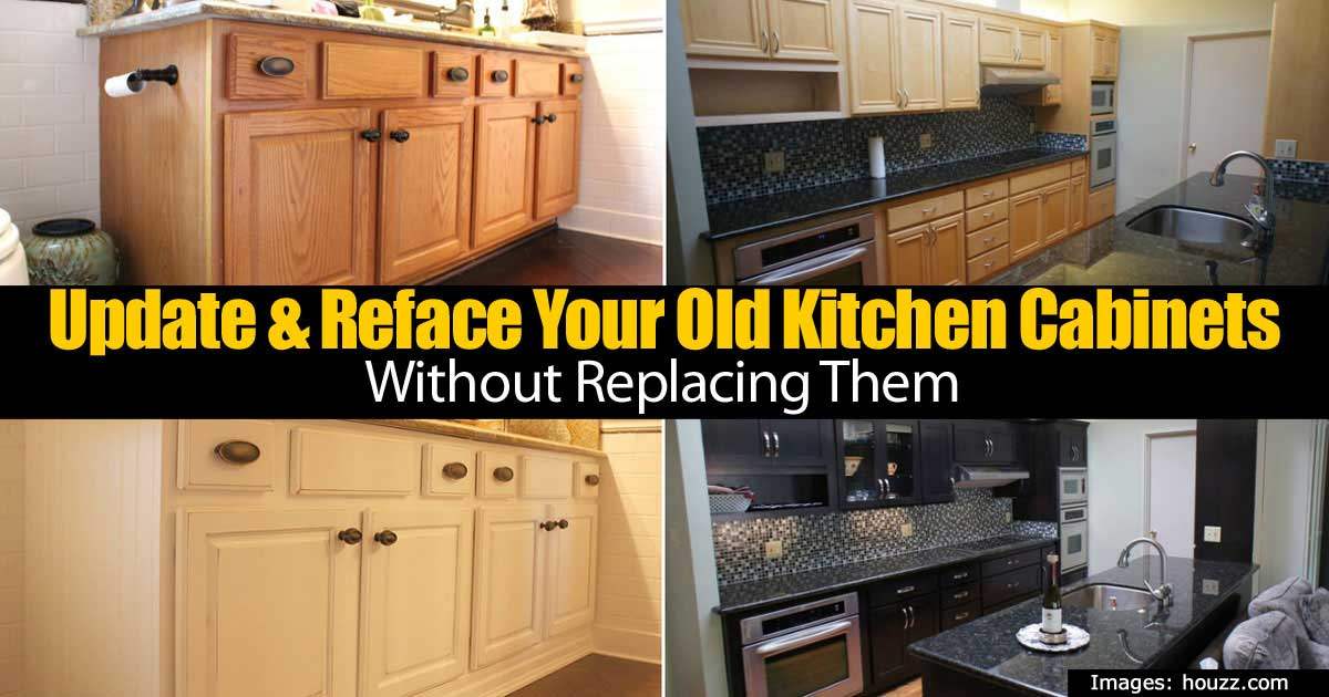 Update & Reface Your Old Kitchen Cabinets Without Replacing Them -