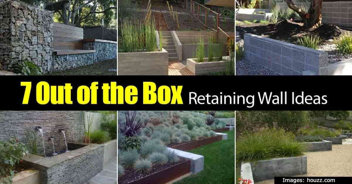 Retaining Wall Ideas: How To Use A Wonderful Landscape Tool