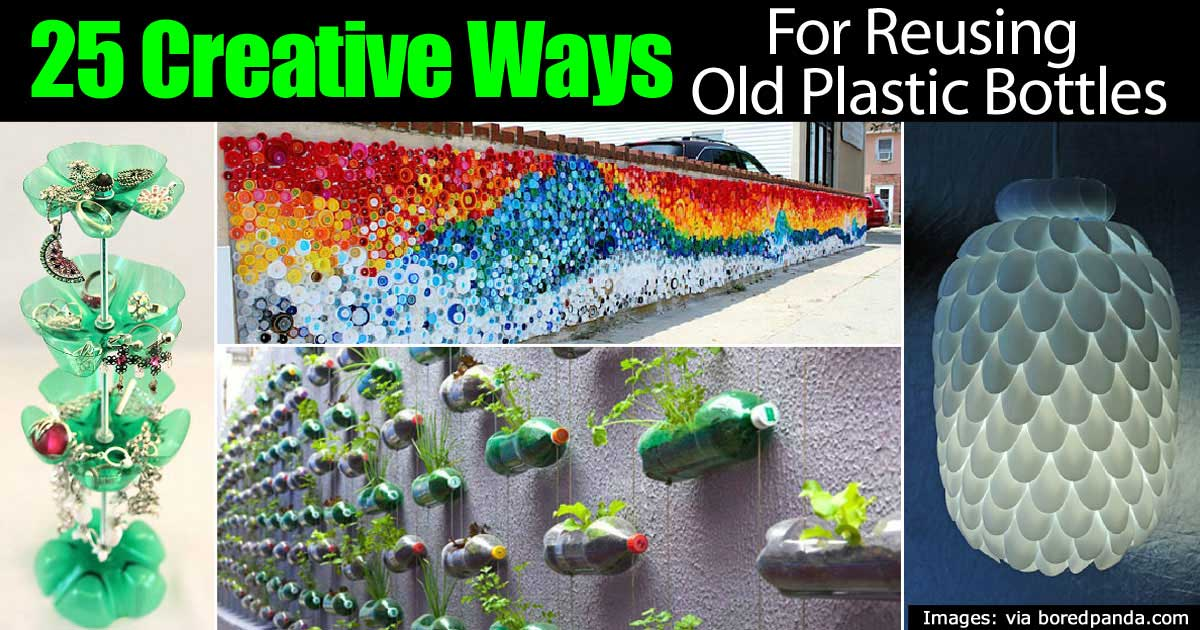 Plastic bottles reuse images for Creative ways to recycle