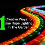 11 Creative Ideas For Using Rope Lighting In Your Garden