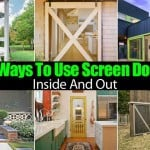 10 Ways To Use Screen Doors Inside And Out