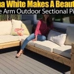 Anna White Makes A Beautiful One Arm Outdoor Sectional Piece