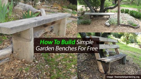 How To Build Simple Garden Benches For Free – Gardening Benches