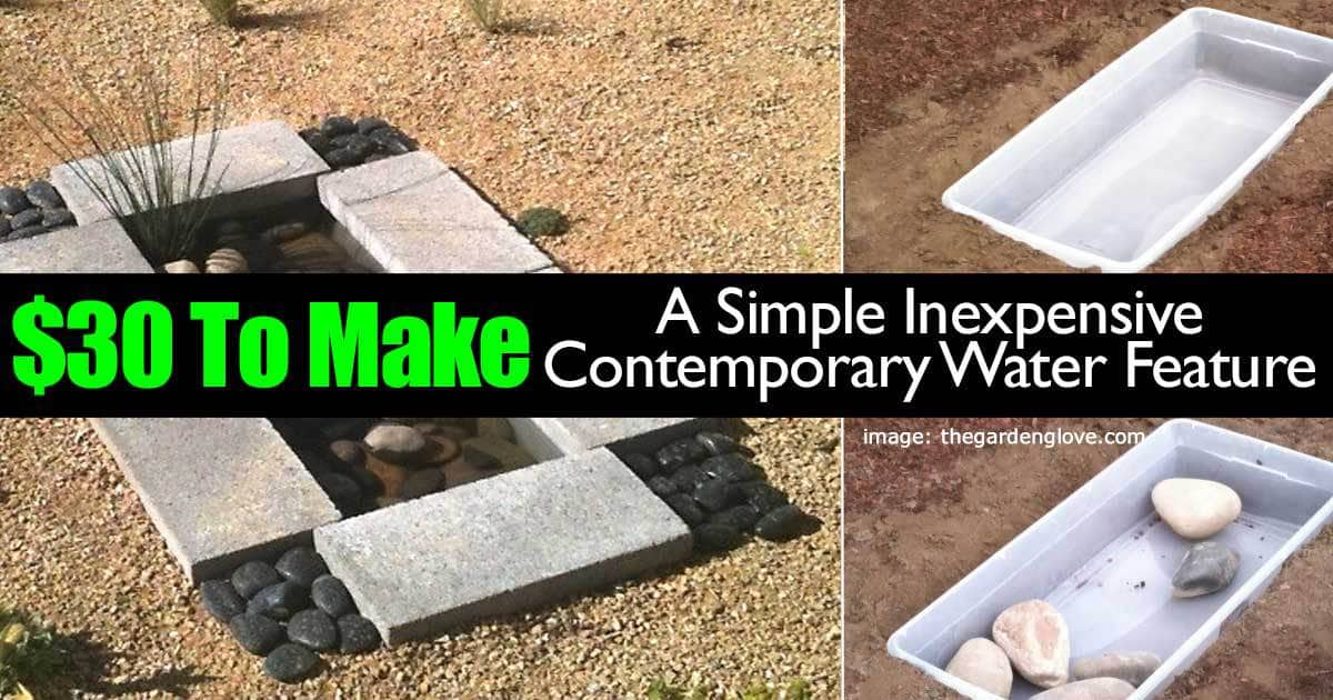 $30 To Make A Simple Inexpensive Contemporary Water Feature