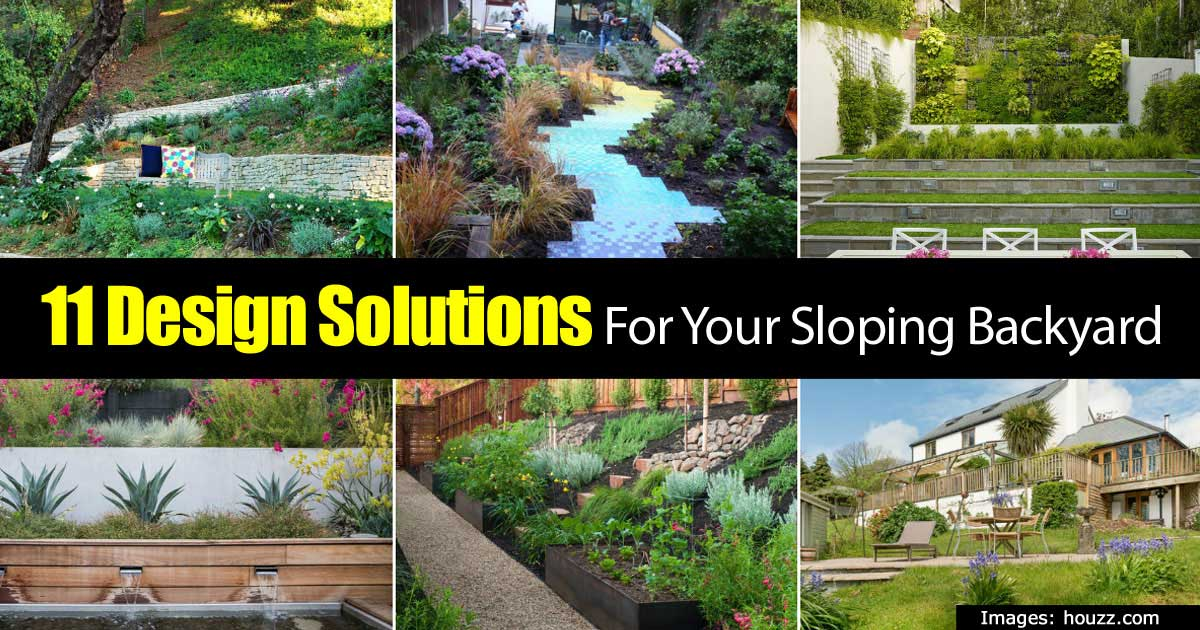 Solutions for a sloping backyard