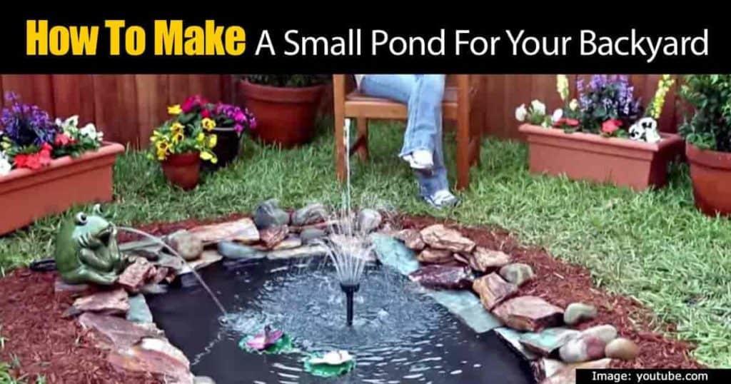 build a garden pond