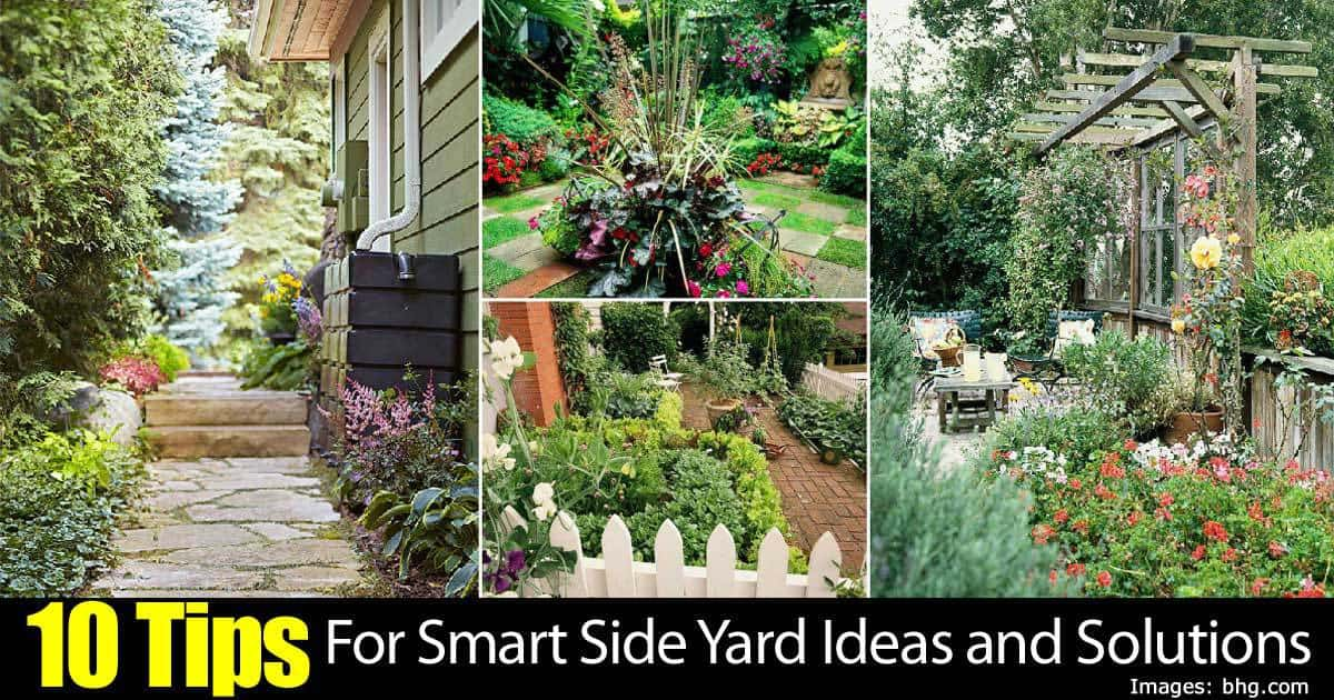 Merveilleux 10 Tips For Smart Side Yard Ideas And Solutions