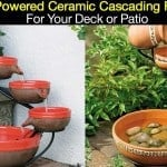 Add A Solar Powered Ceramic Cascading Fountain To Your Deck or Patio