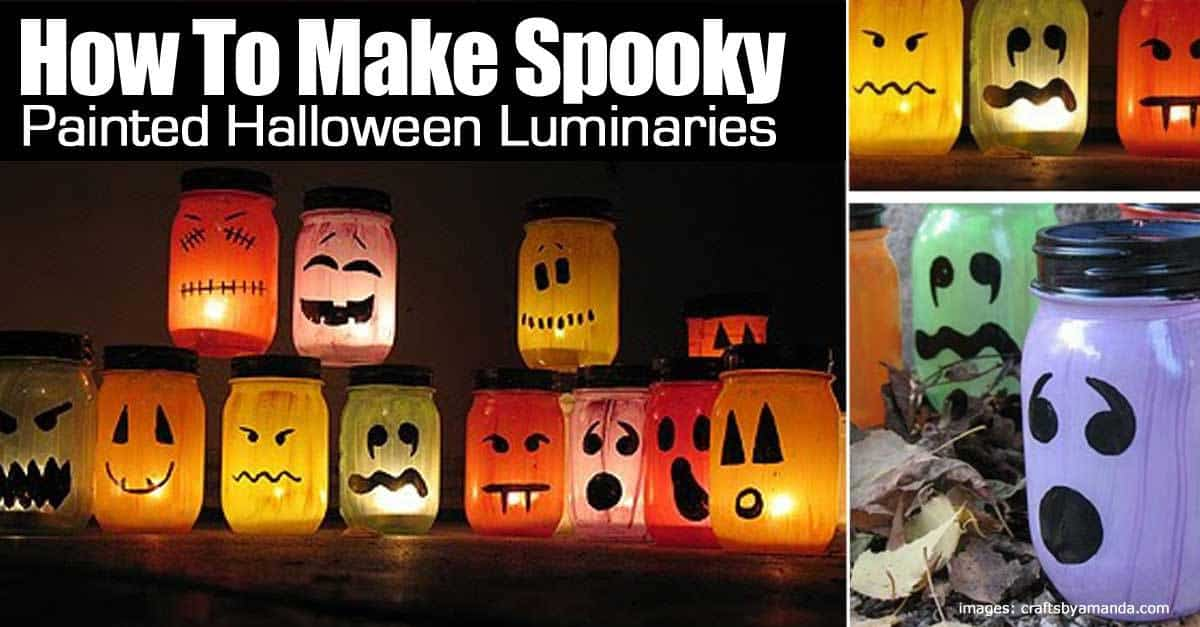 how to make spooky fun halloween luminaries. Black Bedroom Furniture Sets. Home Design Ideas