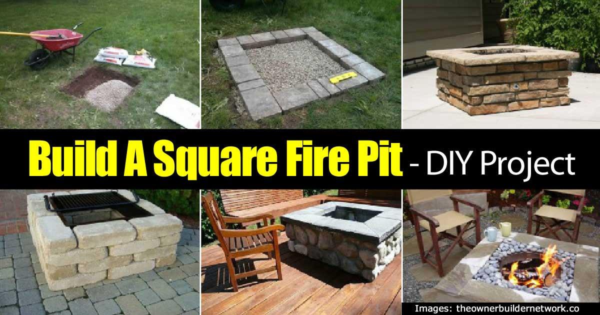 build square fire pit