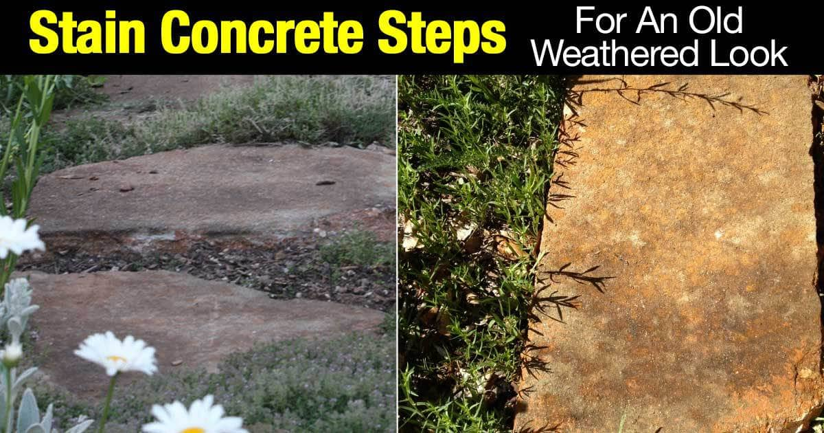 How to stain concrete steps 2 days for an old weathered for Best weather to pour concrete
