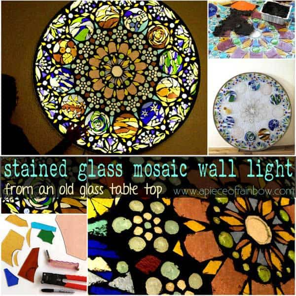 How To Make A Beautiful Stained Glass Mosaic Wall Light