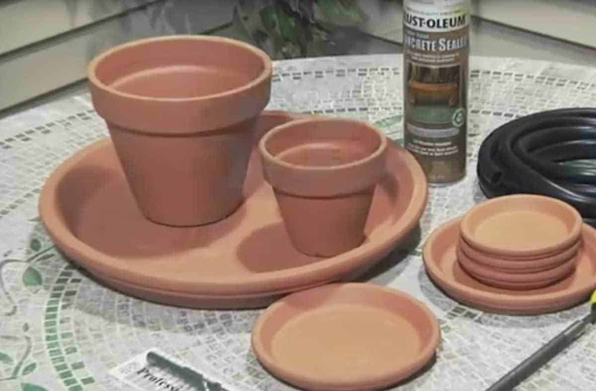 items needed for a terra cotta fountain