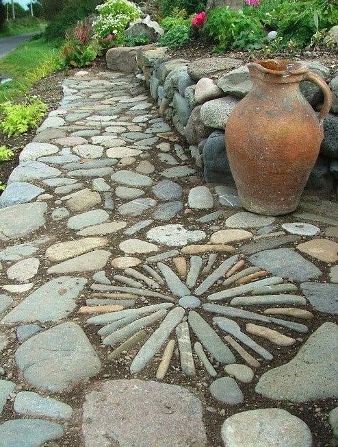 Garden Path Ideas garden stone circle heres a bunch of creative ideas for designing garden paths and walkways Cool Garden Path Ideas