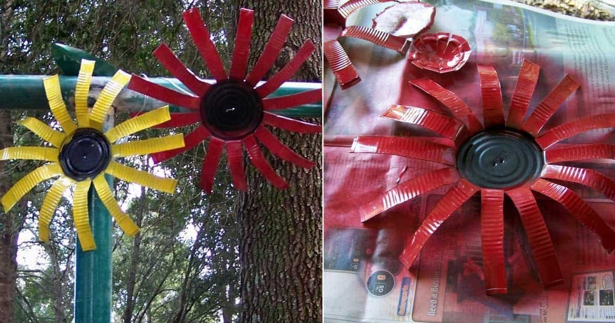 How To Make Colorful Tin Can Flowers Tutorial