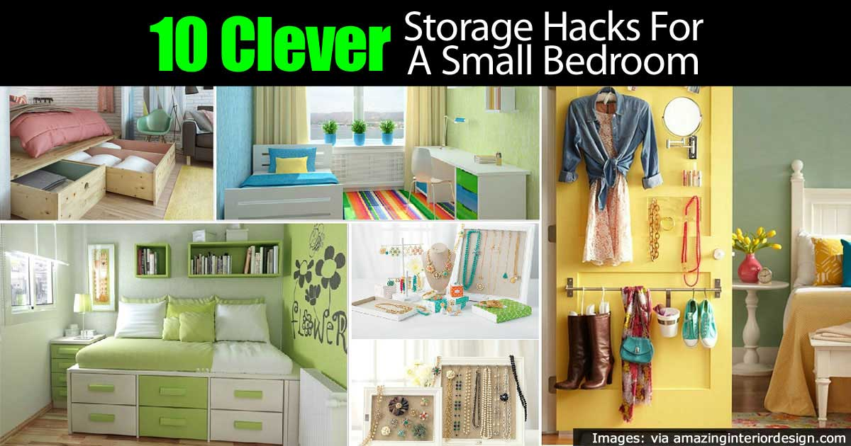 10 clever tiny bedroom storage hacks - Bedroom Storage