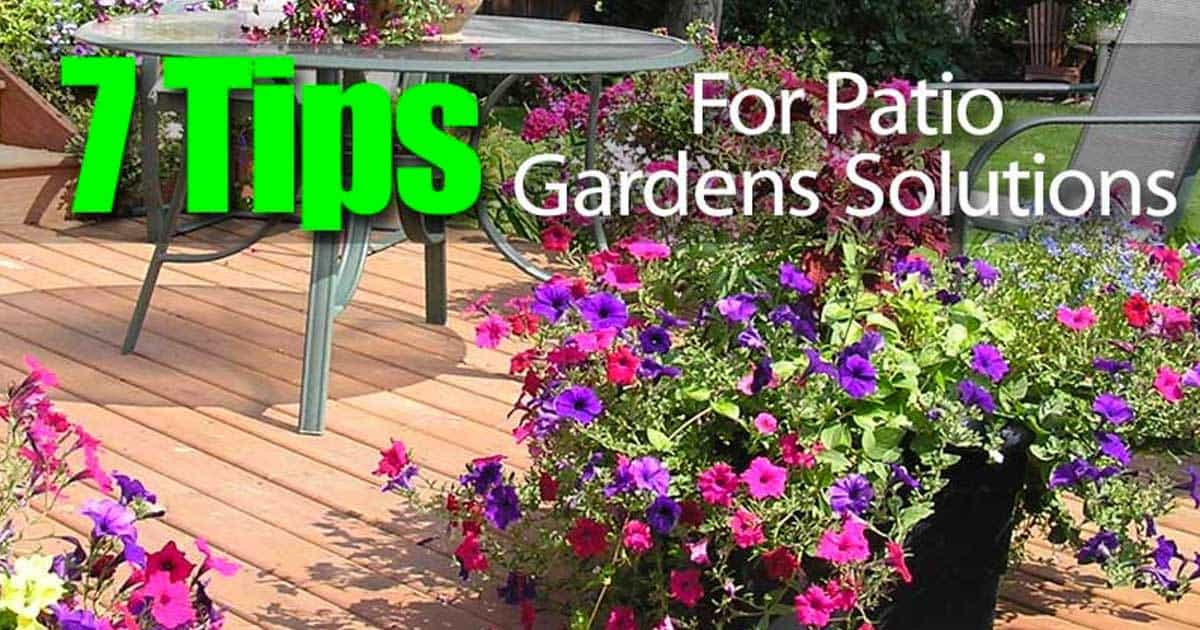 7 Tips For Patio Gardens Solutions