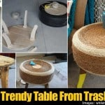 [Tutorial] Trendy Table From Trash Pile Tire