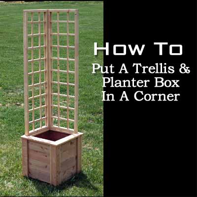 L Shaped Trellis and Planter Box