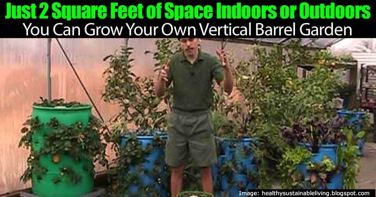 Just 2 Square Feet of Space To Grow Your Own Vertical Barrel Garden