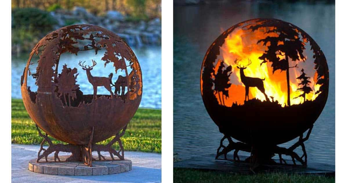 Up North Fire Pit - 10+ Amazing & Beautiful Metal Fire Pits That Are Works Of Art -