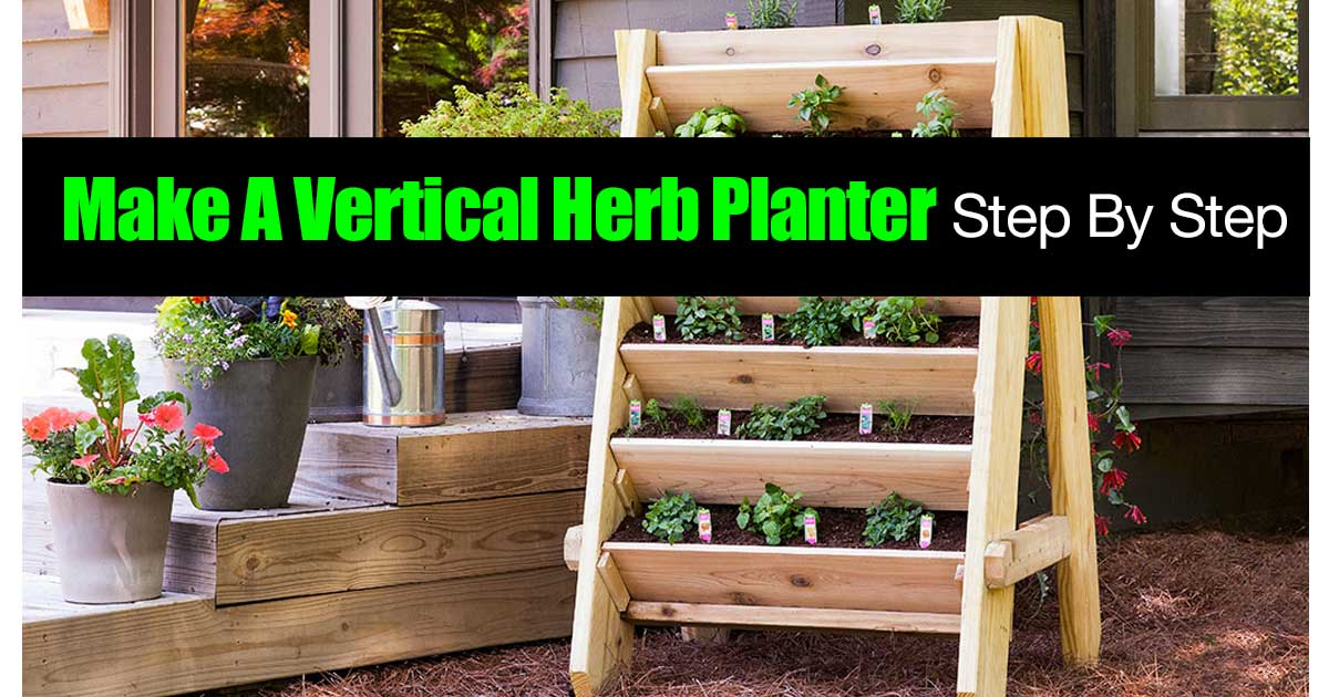 Herb Planter Glamorous How To Make A Vertical Herb Planter Stepstep Decorating Inspiration