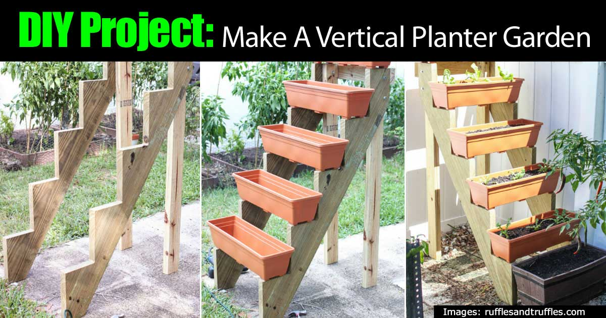 DIY Project: Make A Vertical Planter Garden