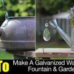 How To Make A Galvanized Watering Can Fountain & Garden Art