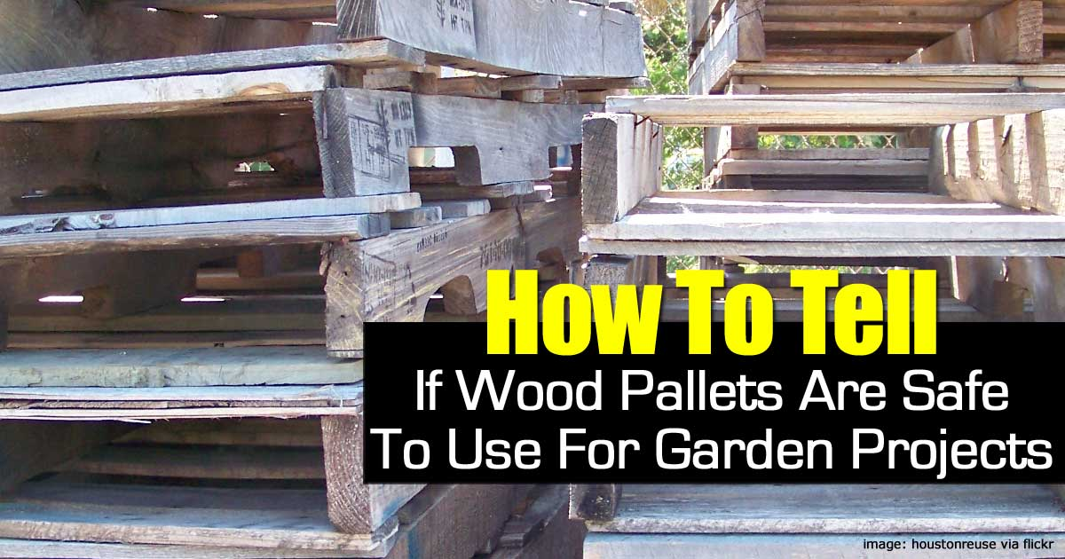 how to tell if wood pallets are safe to use in the garden