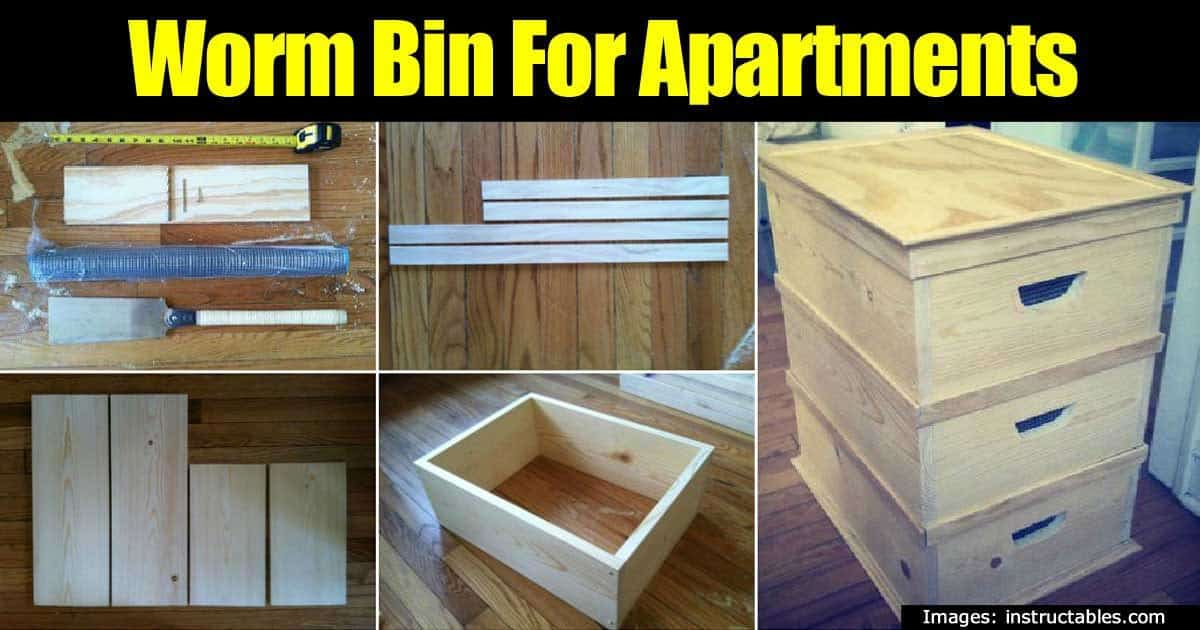 how to make an indoor worm bin for apartments