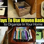 Using Woven Baskets To Organize Your Home