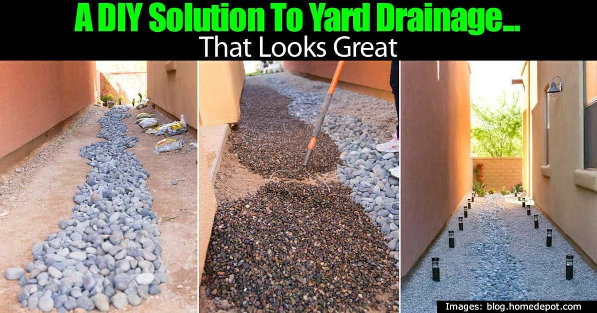 A DIY Solution To Yard Drainage... That Looks Great