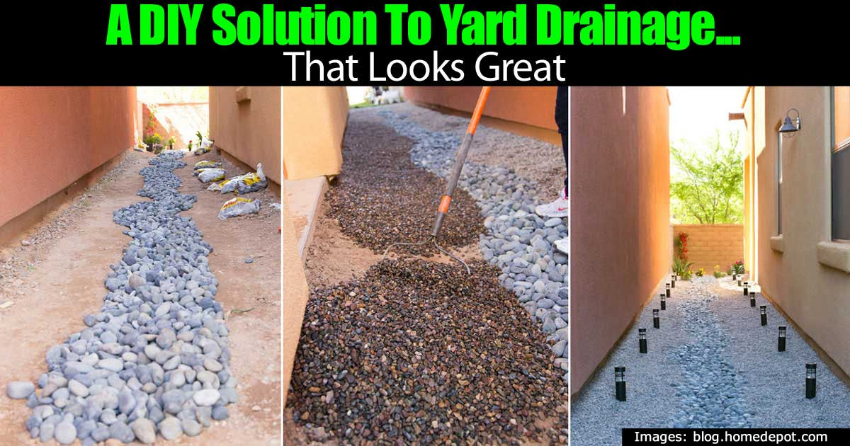 A diy solution to yard drainage that looks great for Backyard flooding solutions