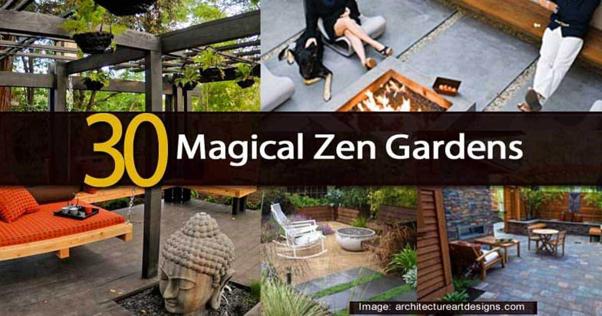 30 Magical Zen Gardens - on zen paint colors, zen small backyard ideas, okinawa design, mail kiosk design, landscape design, zen gardens in japan, zen art, pool design, zen gardening, zen symbols, patio design, zen flowers, loft design, zen doodle designs instruction, zen gardens landscaping, pergola design, zen space,